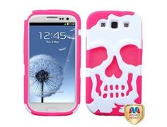 MYBAT Ivory White/Electric Pink Halloween Skullcap Hybrid Protector Cover for Samsung Galaxy S 3 by Valor. $12.95. Give your phone rugged protection with the Skullcap Hybrid Ivory White/Electric Pink Case for the Samsung Galaxy S3. Made with two layers, a silicone core with a hard plastic shell, it provides rugged defense against scratches and more. Precise openings and molds give you access to all of your phone's functions.