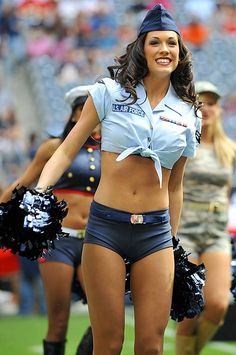 6c42a18bc9dac Art Dallas Cowboys NFL cheerleader in Air Force military halloween costume.  nfl-cheerleaders-and-in-halloween-costumes