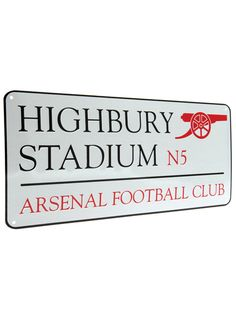 Arsenal FC Highbury Stadium Street Sign.