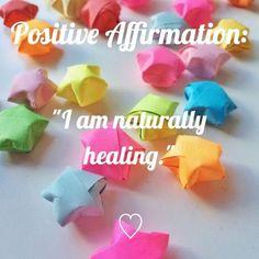 "✨Positive Affirmation: ""I am naturally healing.""✨ IG:@harajukupositivity"