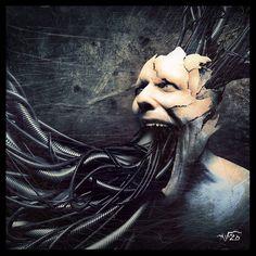 Surreal photo Manipulation created by mashina Zombie Vampire, Pale Horse, Savage Worlds, Dark And Twisted, Photo Manipulation, Photo Art, Creepy, Cool Art, Digital Art