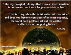 Carl Jung Depth Psychology: Individual consciousness makes man aware of the difficulties of his inner as well as his outer life.