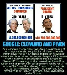 Obama's Agenda... TO LEVEL AMERICA TO A THIRD WORLD COUNTRY IN PREPARATION FOR A ONE WORLD GOVERNMENT!