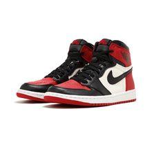 3c24134d5dc25 Air Jordan 1 Bred Toe Black Red OG 555088-610 2018 Authentic Mens  fashion