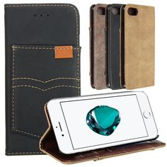 PU Leather Wallet Case With Kickstand Card Slots For iPhone 7/iPhone 8  Worldwide delivery. Original best quality product for 70% of it's real price. Hurry up, buying it is extra profitable, because we have good production sources. 1 day products dispatch from warehouse. Fast &...