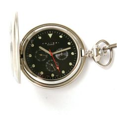 Colibri Pocket Watch Hunting Case Day Date 24 Hour Sub Dial Gift Box PWQ0956905S SALE Colibri. $49.00. Stainless Steel. 24 Hour Indicator. Colibri of London. Day and Date Indicator. Pocket Watch Chain Included. Save 61%!