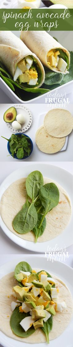 These delicious spinach avocado egg wraps are a huge hit at our house! Come and check out how you can make this delightful dish! Avocado Recipes, Lunch Recipes, Vegetarian Recipes, Breakfast Recipes, Dinner Recipes, Cooking Recipes, Healthy Recipes, Healthy Snacks, Healthy Eating