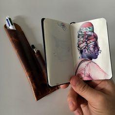 Incredible Ballpoint Pen Drawings by Artist Nicolas V. Sketchbook Drawings, Art Sketches, Pen Drawings, Easy Drawings, Marker Art, Pen Art, Biro Art, Ballpoint Pen Drawing, Art Diary