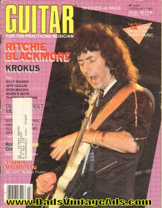1985 February Guitar For The Practicing Musician Magazine Back-Issue