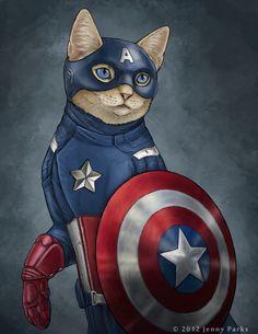 Las ilustraciones de los gatos superheroe | OLDSKULL.NET