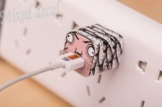 sticker for Apple 5W USB Power Adaptor Decal sticker iphone 5 adaptor decal sticker cover apple decal for 5W USB adaptor by MixedDecal on Etsy