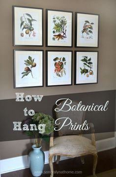 Come on over to find out how to hang botanical prints in any room! Classic, yet modern at the same time, these framed prints will never go out of style! #hometa…