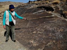 An Iranian archaeologist has discovered what he believes could be some of the oldest rock etchings on the planet. The markings, which have only been seen by a few people, were discovered by Dr Mohammed Naserifard among a rock formation outside the town of Khomeyn in western Iran. The professor believes etchings found at the top of an untouched hillside could be tens of thousands of years old.