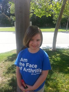 Meet Lily, age 5. She has extended oligo-JIA, hypermobile & bilateral hip effusions. Poor girl, but what an inspiration! Help #CureArthritis by Going Blue! A few hours left to submit! http://CureArthritis.org/Go-Blue
