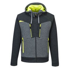 You won't go wrong with the range from Portwest. The Zipped Hoodie is innovative and technical with a two-faced fabric that provides lightweight warmth and unrestricted movement. Grey Hoodie, Zip Hoodie, Work Trousers, Body Warmer, Sport, Stretch Fabric, Work Wear, Perfect Fit, Hooded Jacket