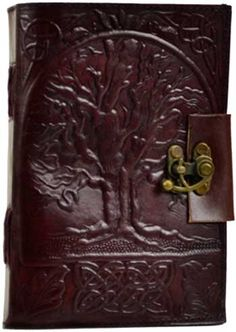 Tree of Life leather blank book w/ latch [BBBLT282] - $25.95 : Wicca, Pagan and Occult Practice Mega Store - www.thetarotoracle.com