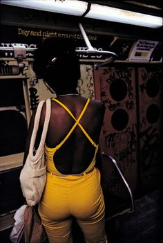Photographs from Bruce Davidson's series: 'Subway' circa 1980