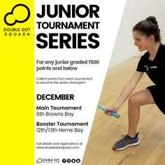 Register now for our junior tournaments coming up next month! For any junior graded 1500 points and below. - www.doubledotsquash.com/juniortournamentseries _ #doubledotsquash #squash #brownsbayracquetsclub #hernebayracketsclub #brownsbay #hernebay #squashauckland #squashnz #squashnewzealand #squashcoaching #squashcoach #juniorsquash #psaworldtour #squashcourt #squashies #squashplayer #squashgoals #squashlife #squashing #squashlife #squashaddict #squashing #juniorsquash… Squash Rules, Squash Gear, Squash Club, Sunday Events, Double Dot, Code Of Conduct, Morning Running, Coaching, Competition
