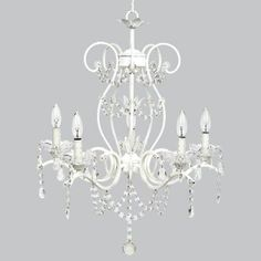 grace chandelier white lighting graceful and lovely best describes this childrens bedroom chandelier it does come in several colors and many options of bedroom chandelier lighting