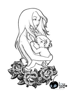Lovefeeding II. #dotwork #illustration #tattoostyle #breastfeeding #normalizebreastfeeding #tenderness #motherhood #childhood #love #flowers