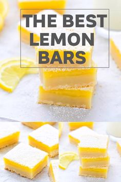 The Best Classic Easy Lemon Bars With Shortbread Crust Recipe – buttery crust and fresh and tangy lemon curd on top. Simple dessert, you can make any time of the year! Lemon Curd Dessert, Easy Lemon Curd, Lemon Dessert Recipes, Lemon Recipes, Köstliche Desserts, Recipes Using Lemon Curd, Easy Lemon Desserts, Lemon Curd Cake, Lemon Cheesecake
