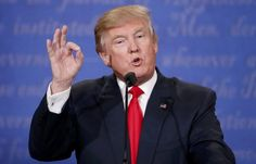 """Donald Trump speaks during the final presidential debate in Las Vegas on Oct. 19.  President-elect Donald Trump is railing against ex-rival Hillary Clinton's presidential campaign for joining in a recount of the votes cast in Wisconsin.  The effort, which he already called """"a scam,"""" was launched by Green"""