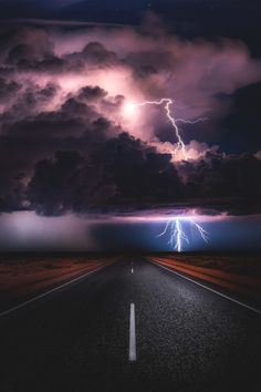 Highway to Hell. Lightning Photography, Storm Photography, Landscape Photography, Nature Photography, Photography Tips, Amazing Photography, Portrait Photography, Wedding Photography, Beautiful Roads