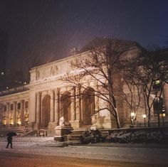 The New York City Public Library in a snowstorm by Vivienne Gucwa @travelinglens | newyork newyorkcity newyorkcityfeelings nyc brooklyn queens the bronx staten island manhattan @lingkingman @ellistuesday @BastienGchr @Parccy