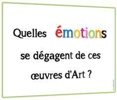 les émotions en arts
