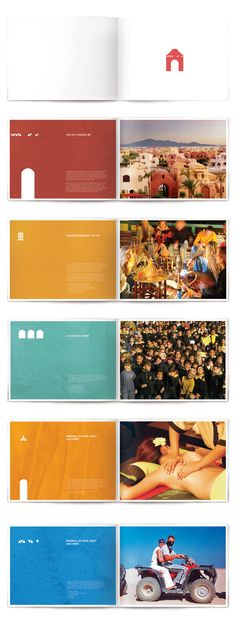 Sparse type & warm color scheme  Brochures by mohamed rifky, via Behance