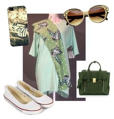 """""""LuLaRoe Amy Gardner $60"""" by amymgardner on Polyvore featuring Converse, Casetify and 3.1 Phillip Lim"""