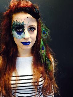 Theatrical Makeup  4/11/13 Own variation Music Video  Model @Abbey Adique-Alarcon Mayor  MUA Jess Robin