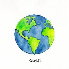 Tiny Earth {Watercolor Painting} by LaRenaissanceGirl.deviantart.com on @DeviantArt