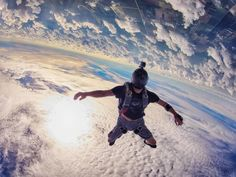 We featured Ralph Turner as a featured photographer on www.dropzone.com in June last year, with his one image going viral just a few months later. Here's another image from the set that his iconic image was from. Parkour, Adventure Awaits, Adventure Travel, Gopro, Cool Pictures, Cool Photos, Base Jumping, Bungee Jumping, Collateral Beauty