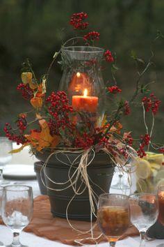 Fall Centerpiece for a Wedding