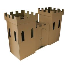 I've just found Kid Eco Castle Brown. The Castle Playhouse comprises 2 castle turrets with castle wall between. Supplied in a sturdy corrugated cardboard outer for storage when not in use. Castle Playhouse, Cardboard Playhouse, Cardboard Castle, Cardboard Toys, Cardboard Crafts Kids, Cardboard City, Cardboard Dollhouse, Cardboard Houses, Diy Dollhouse