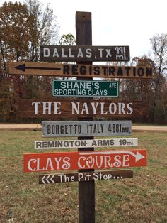 Our directional sign for shooters on clay's course at Shane's Sporting Clays in Summerfield, NC. #shanessportingclays