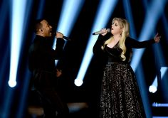 Pin for Later: The Best Pictures From the Billboard Music Awards John Legend and Meghan Trainor Meghan Trainor, John Legend, Billboard Music Awards 2015, Catwalk Models, Plus Size Fashion Tips, Cute Underwear, Perfect Model, Short Models, Chubby Ladies