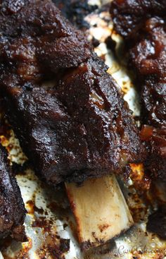 Off The Bone Beef Ribs Fall Off The Bone BEEF Ribs recipe from Jenny Jones (Jenny Can Cook) Crazy good - oven or grill.Fall Off The Bone BEEF Ribs recipe from Jenny Jones (Jenny Can Cook) Crazy good - oven or grill. Beef Ribs Recipe Oven, Beef Short Ribs Oven, Bbq Beef Ribs, Cooking Short Ribs, Beef Back Ribs, Best Ribs Recipe, Oven Ribs, Grilled Beef Ribs, Grilled Meat