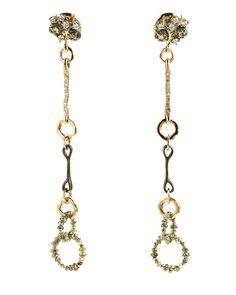 Federica Rettore Diamond Link Earrings Long drop earrings with rose gold, gun barrel stainless steel, and briolette diamond links