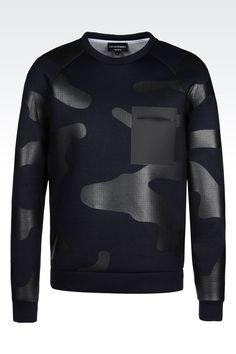 Armani Sweatshirts Men runway sweatshirt in camouflage neoprene Armani Sweatshirt, Camo Sweatshirt, Armani Jeans, Printed Sweatshirts, Mens Sweatshirts, Mode Jeans, Camouflage, Dope Fashion, Courses