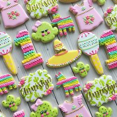 """920 Likes, 56 Comments - Margaret Rettig Nelson (@bluesugarcookieco) on Instagram: """"A sweet first birthday Fiesta Set! #Fiesta #fiestacookies #fiestabirthday #decoratedcookies…"""""""