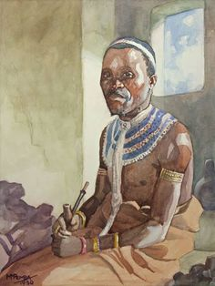 South African Artists, African Tribes, Black Women Art, Black Art, South Africa Art, Xhosa, African Clothing For Men, Art Of Man, Afro Art