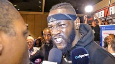 Deontay Wilder lets Radio Rahim have it at the final press conference for Joe Joyce, Bronze Bomber, Deontay Wilder, Alien Girl, Tyson Fury, Boxing Champions, Wbc, Boxing News, World Leaders
