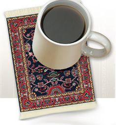 Coffee can not be better with a Kaji Mini Rug