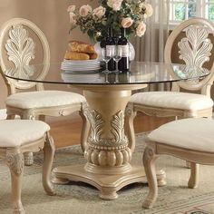 Marvelous Acme Furniture | Acme Furniture Coronado Round Pedestal Table