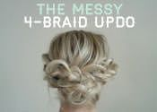 How To: The Messy 4 Braid Updo ( need more bobby pins or smaller braids for my thick hair)