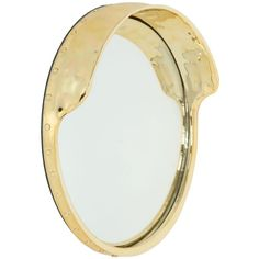 SELETTI Focalize Mirror (14,715 PHP) ❤ liked on Polyvore featuring home, home decor, mirrors, mirror, gold, round gold mirror, seletti, gold mirror, gold home decor and round mirror