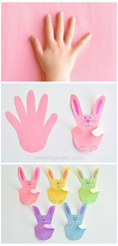 Bunny Crafts, Easter Crafts For Kids, Diy For Kids, Simple Kids Crafts, Easter Activities For Kids, Paper Easter Crafts, Spring Kids Craft, Easy Crafts With Paper, Simple Origami For Kids