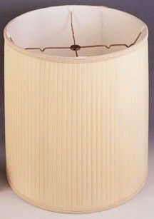 Side Pleated Silk Drum Lamp Shade Taller Style Than Mushroom Soft Sewn In